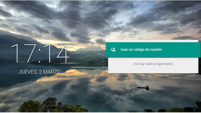 Google Meet pantalla