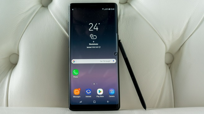 Galaxy Note 8 S Pen frontal