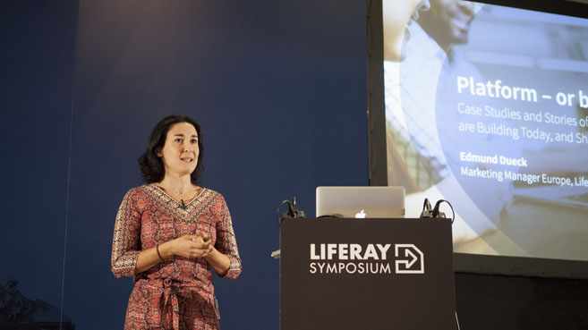 Carolina Moreno en Liferay Symposium 2016