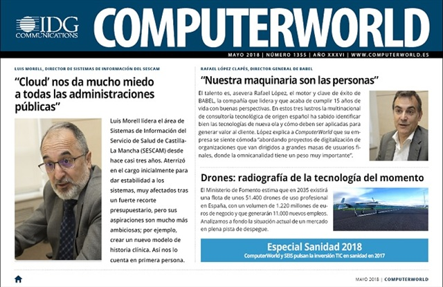 ComputerWorld portada mayo 2018