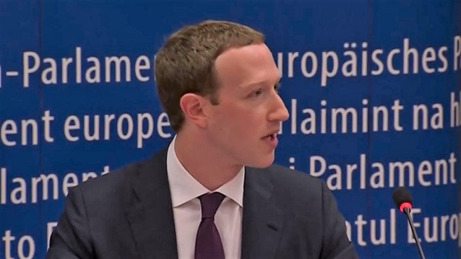 Mark Zuckerberg en el Parlamento Europeo